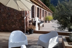 Terrasse bois - chambres d'hôtes Corse du Sud