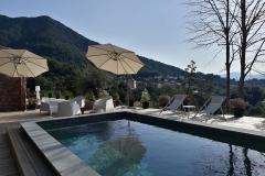 espace extérieur - chambre d'hôtes à Bocognano